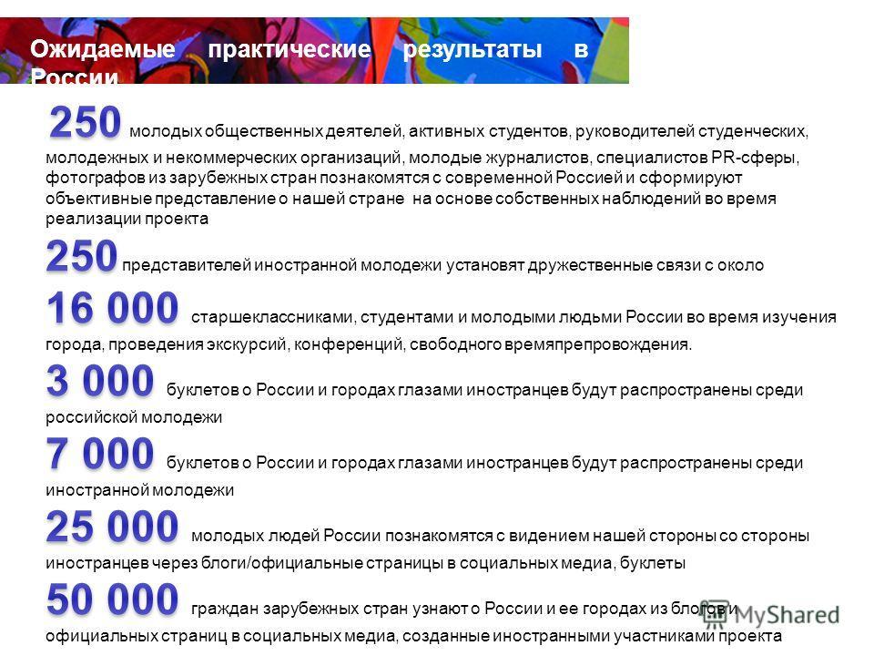 Ожидаемые практические результаты Ожидаемые практические результаты в России