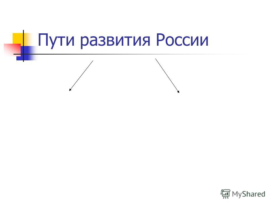 Пути развития России