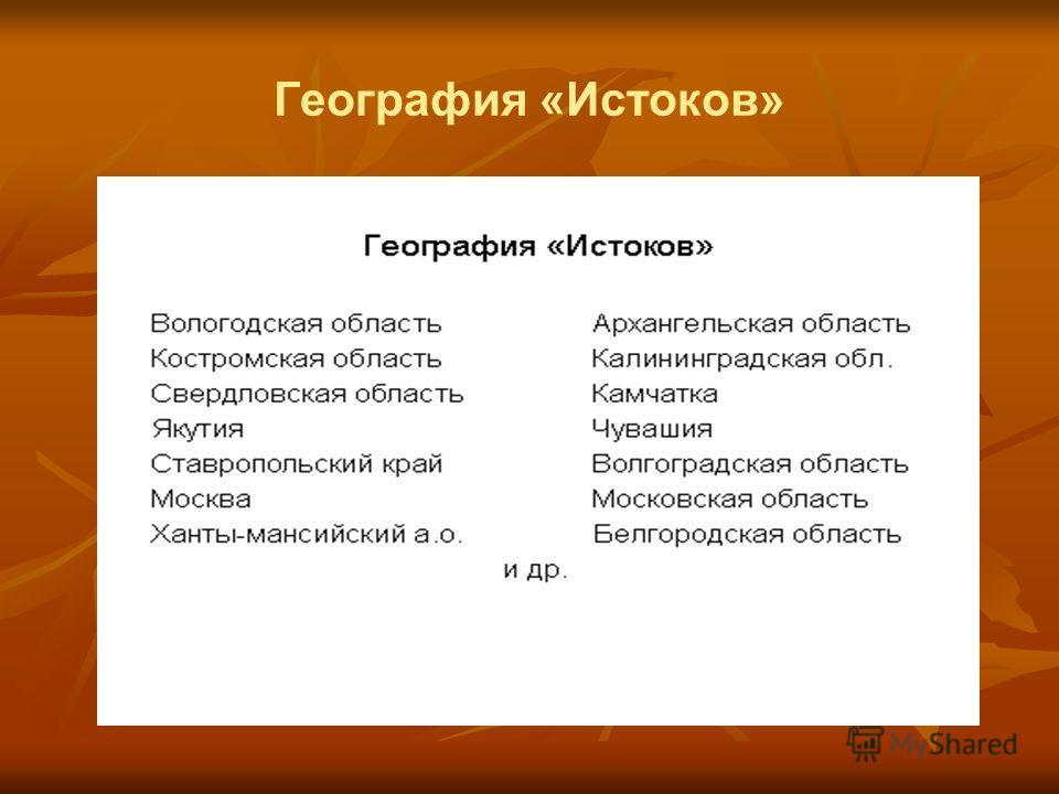 География «Истоков»
