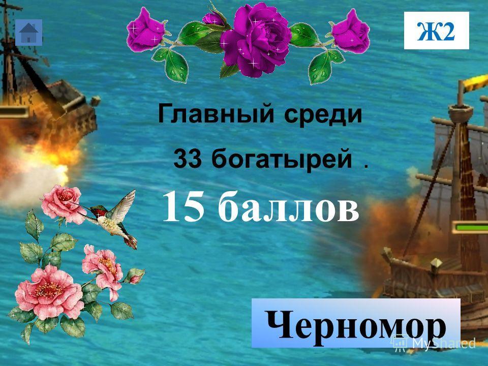 Главный среди 33 богатырей. 15 баллов Черномор Ж2