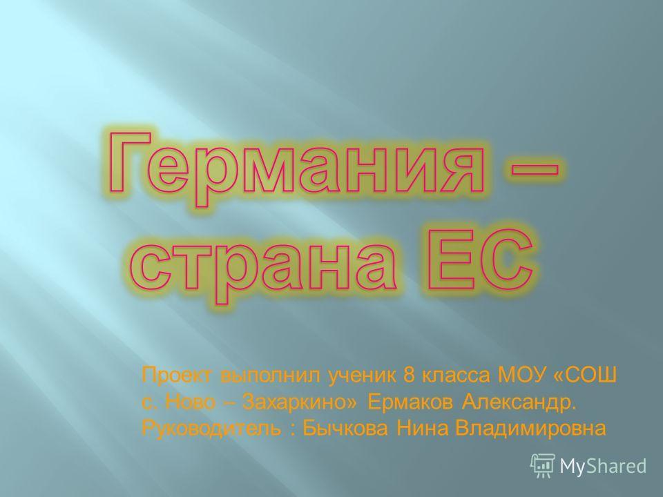 Проект выполнил ученик 8 класса МОУ «СОШ с. Ново – Захаркино» Ермаков Александр. Руководитель : Бычкова Нина Владимировна