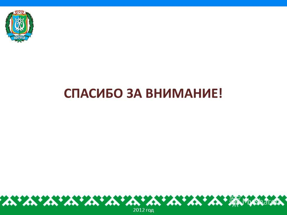 2012 год СПАСИБО ЗА ВНИМАНИЕ!