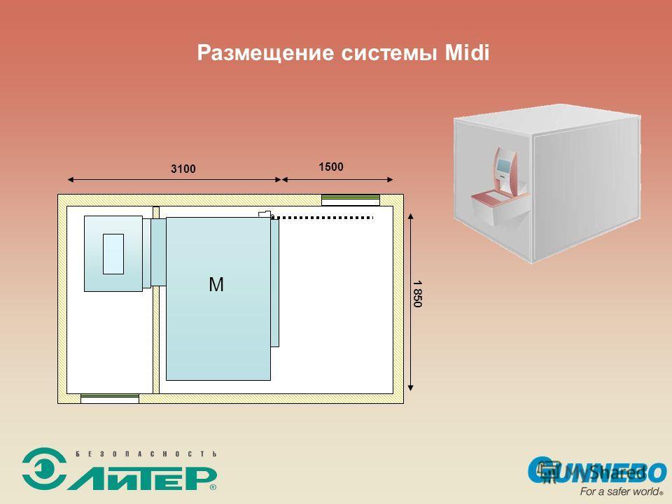 Размещение системы Midi 3100 1500 1 850 M