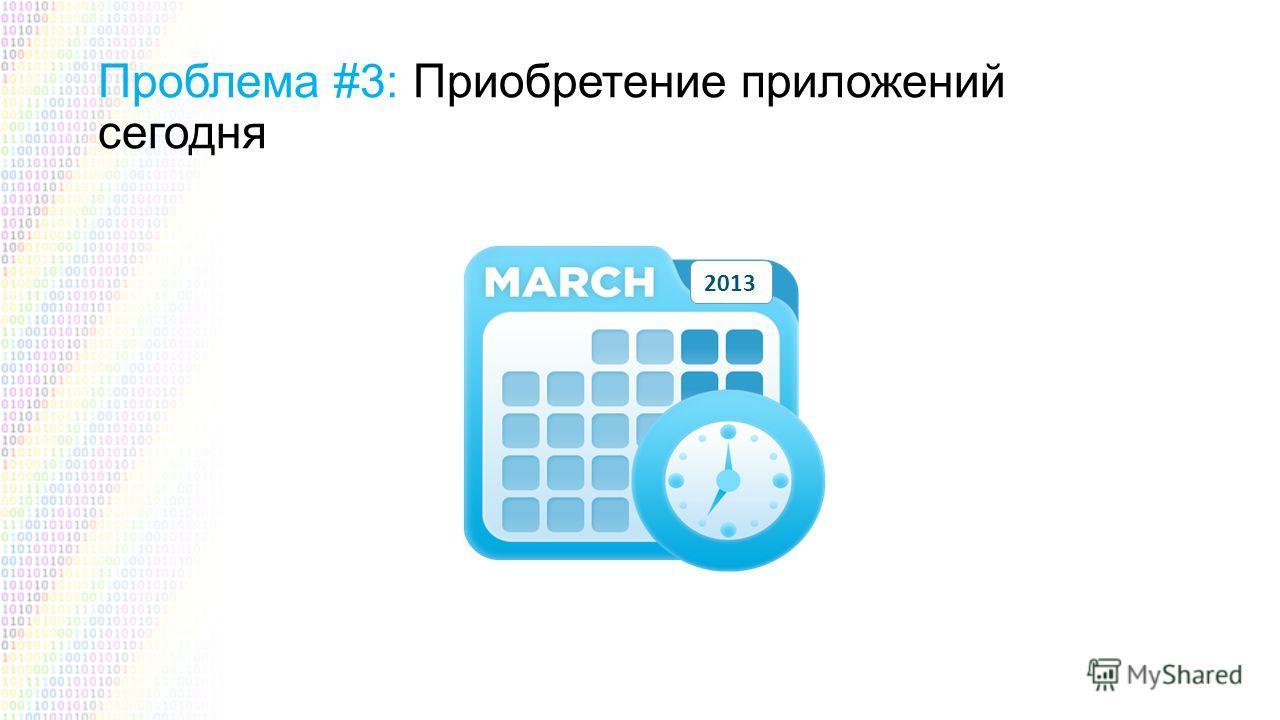 Проблема #3: Приобретение приложений сегодня 2013