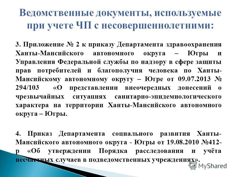 3. Приложение 2 к приказу Департамента здравоохранения Ханты-Мансийского автономного округа – Югры и Управления Федеральной службы по надзору в сфере защиты прав потребителей и благополучия человека по Ханты- Мансийскому автономному округу – Югре от