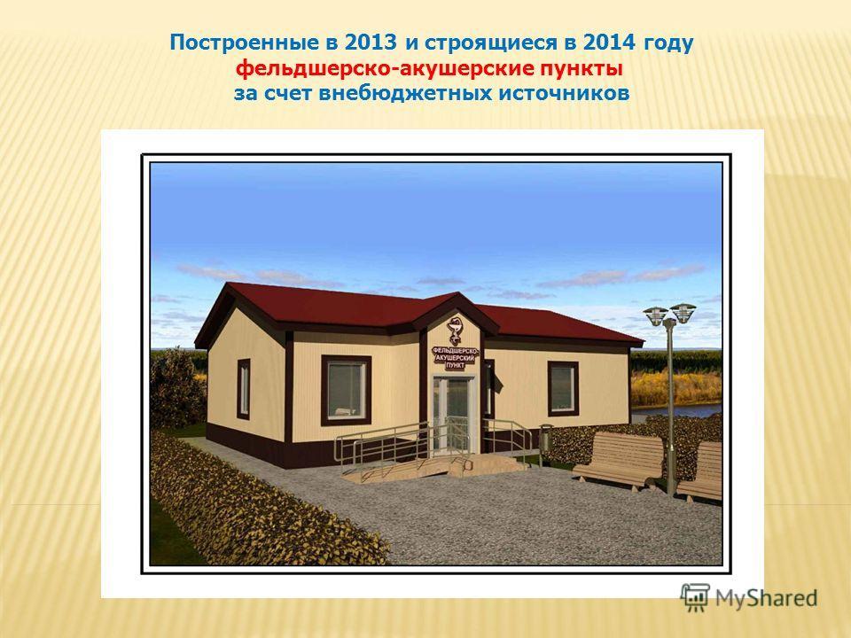 Построенные в 2013 и строящиеся в 2014 году фельдшерско-акушерские пункты за счет внебюджетных источников