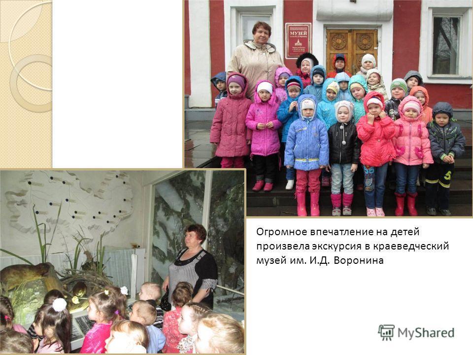 Огромное впечатление на детей произвела экскурсия в краеведческий музей им. И.Д. Воронина
