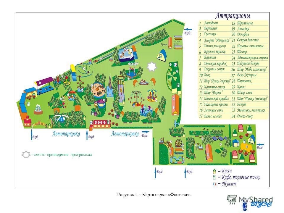 Рисунок 5 – Карта парка «Фантазия» – место проведения программы