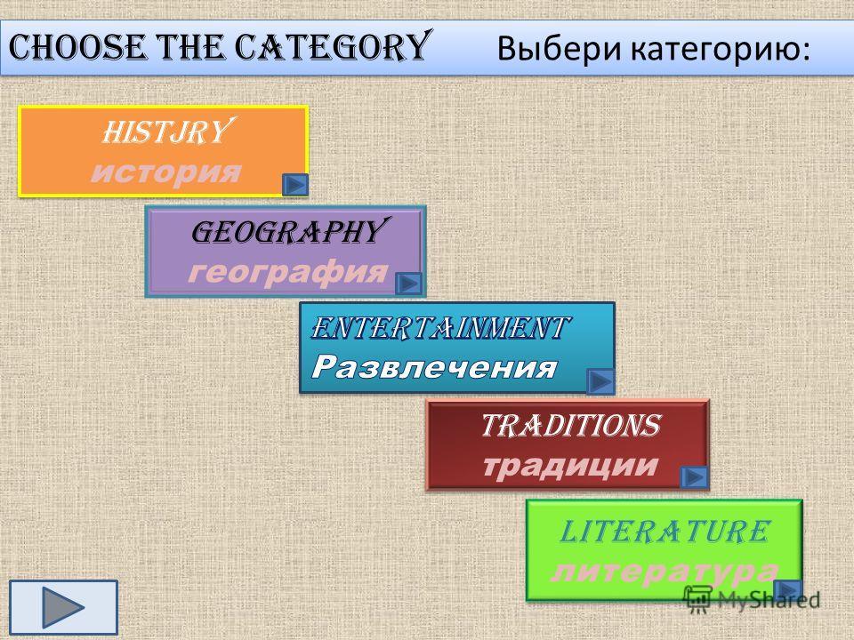 Choose the category Выбери категорию: Histjry история Histjry история Geography география Traditions традиции Traditions традиции literature литература literature литература