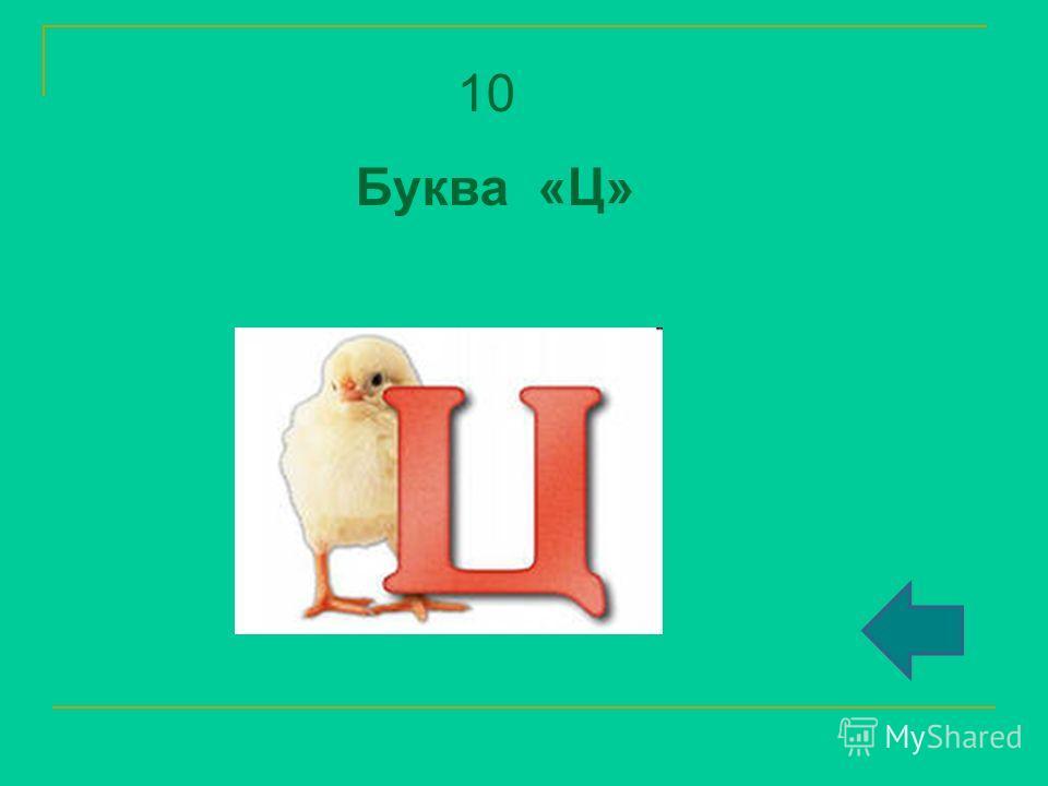 10 Буква «Ц»