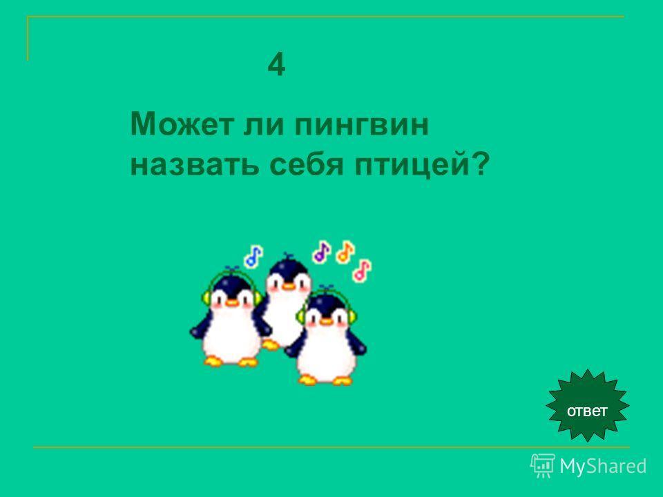 ответ 4 Может ли пингвин назвать себя птицей?