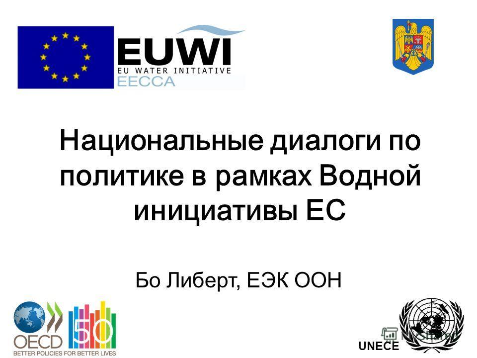 Национальные диалоги по политике в рамках Водной инициативы ЕС Бо Либерт, ЕЭК ООН UNECE