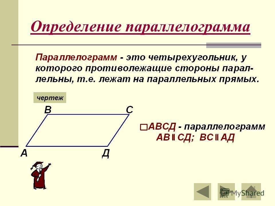 Определение параллелограмма чертеж