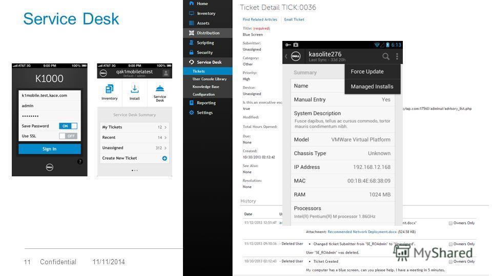 11 Confidential Service Desk 11/11/2014
