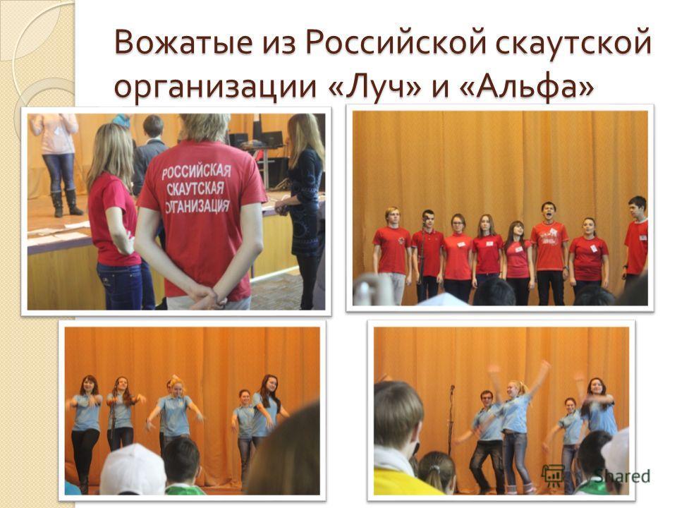 Вожатые из Российской скаутской организации « Луч » и « Альфа »