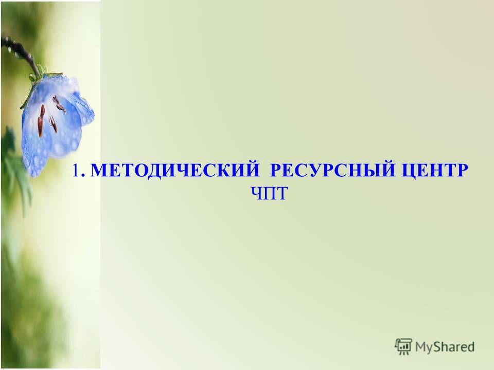 1. МЕТОДИЧЕСКИЙ РЕСУРСНЫЙ ЦЕНТР ЧПТ