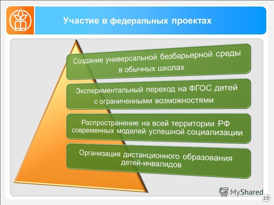 Участие в федеральных проектах 15