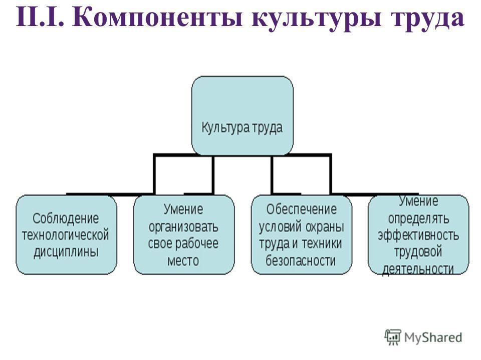 II.I. Компоненты культуры труда