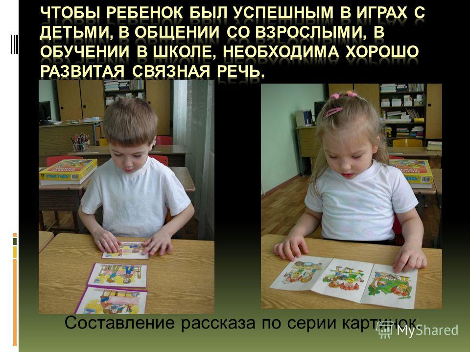 Составление рассказа по серии картинок.