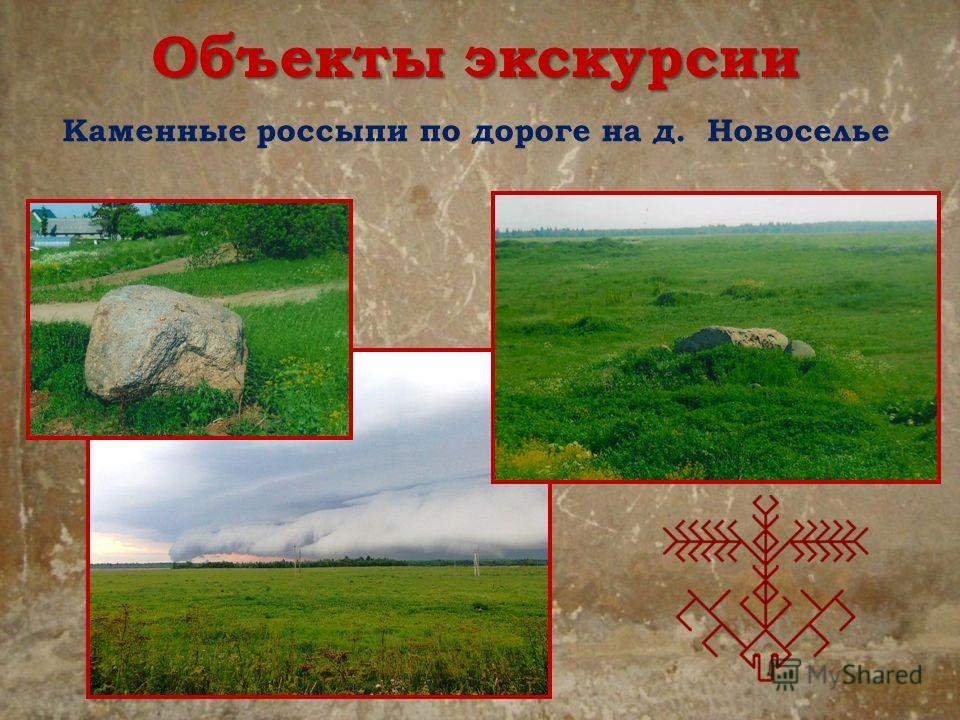 Каменные россыпи по дороге на д. Новоселье Объекты экскурсии