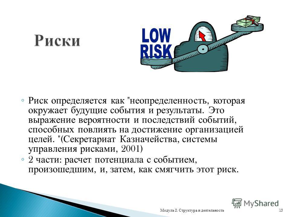 Риск определяется как