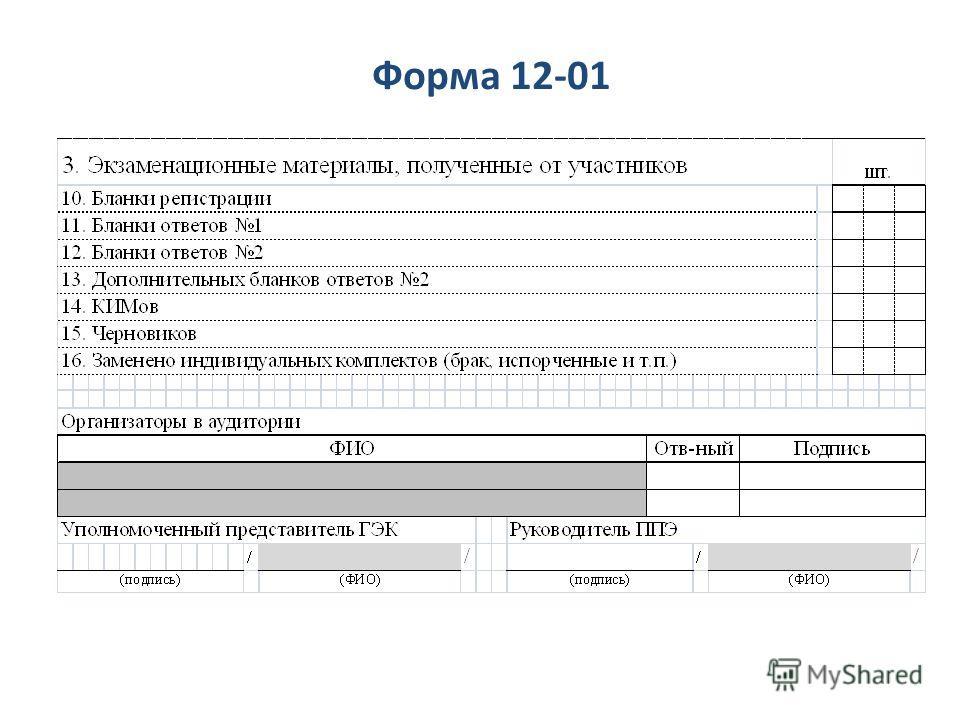 Форма 12-01
