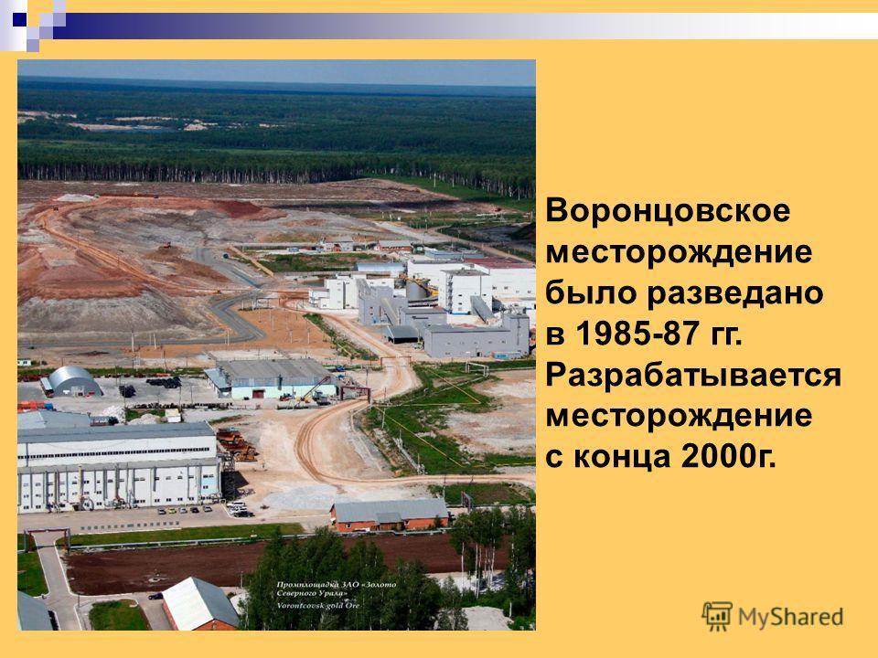 Воронцовское месторождение было разведано в 1985-87 гг. Разрабатывается месторождение с конца 2000 г.