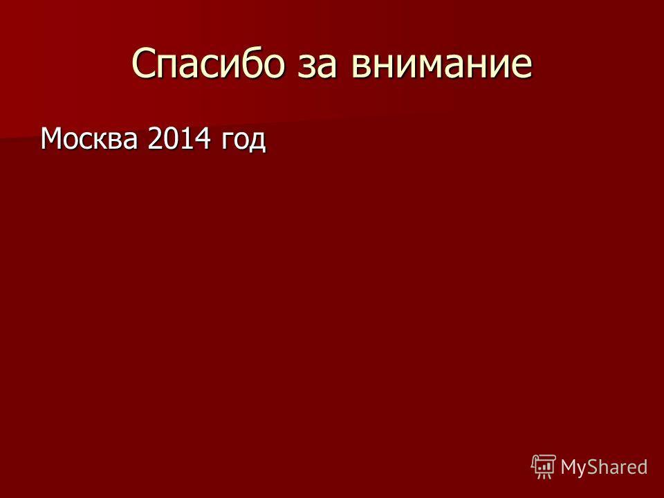Спасибо за внимание Москва 2014 год