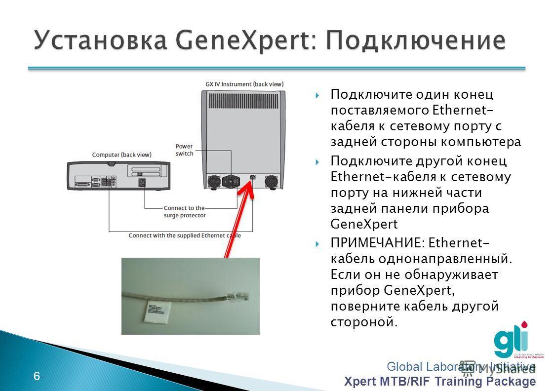Global Laboratory Initiative Xpert MTB/RIF Training Package -5--5- Расположите GeneXpert на твердую плоскую поверхность Оставьте зазоры размером, по меньшей мере, 10 см с каждой стороны прибора GeneXpert Не блокируйте вытяжной вентилятор внизу задней