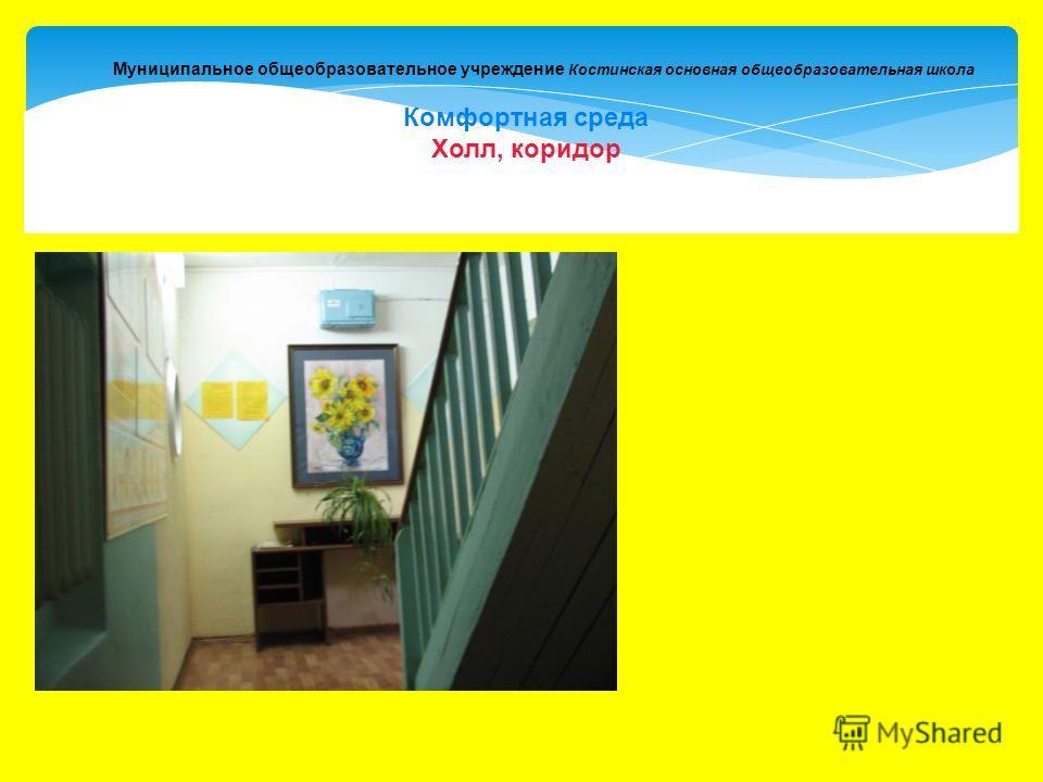 Муниципальное общеобразовательное учреждение Костинская основная общеобразовательная школа Комфортная среда Холл, коридор