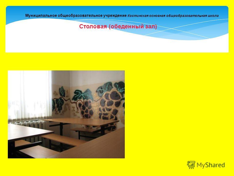 Муниципальное общеобразовательное учреждение Костинская основная общеобразовательная школа Столовая (обеденный зал)