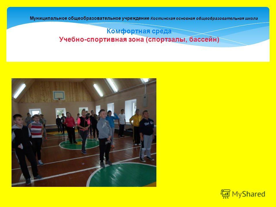 Муниципальное общеобразовательное учреждение Костинская основная общеобразовательная школа Комфортная среда Учебно-спортивная зона (спортзалы, бассейн)