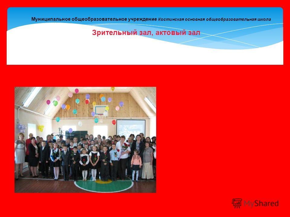 Муниципальное общеобразовательное учреждение Костинская основная общеобразовательная школа Зрительный зал, актовый зал