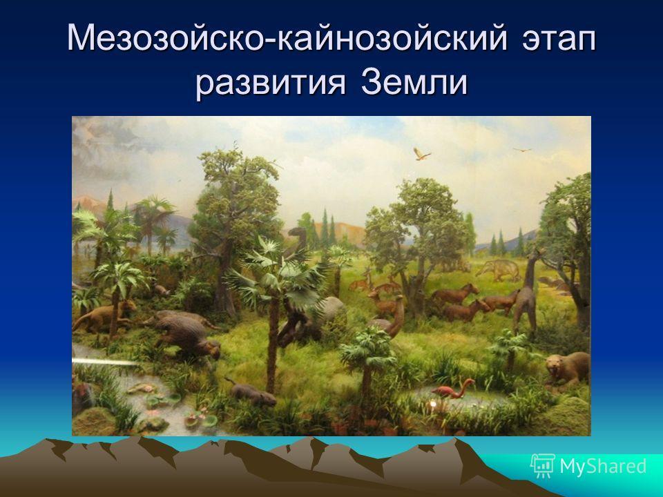 Мезозойско-кайнозойский этап развития Земли