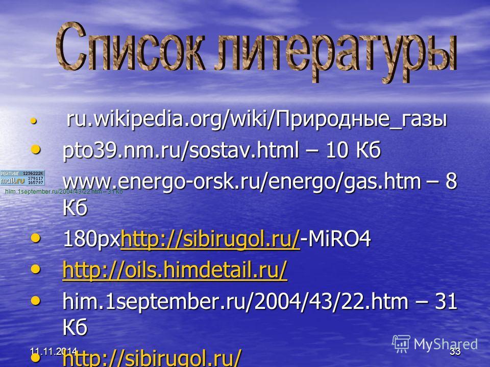 11.11.201433 ru.wikipedia.org/wiki/Природные_газы ru.wikipedia.org/wiki/Природные_газы pto39.nm.ru/sostav.html – 10 Кб pto39.nm.ru/sostav.html – 10 Кб www.energo-orsk.ru/energo/gas.htm – 8 Кб www.energo-orsk.ru/energo/gas.htm – 8 Кб 180 рхhttp://sibi