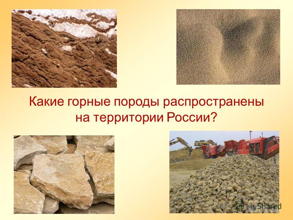 Какие горные породы распространены на территории России?