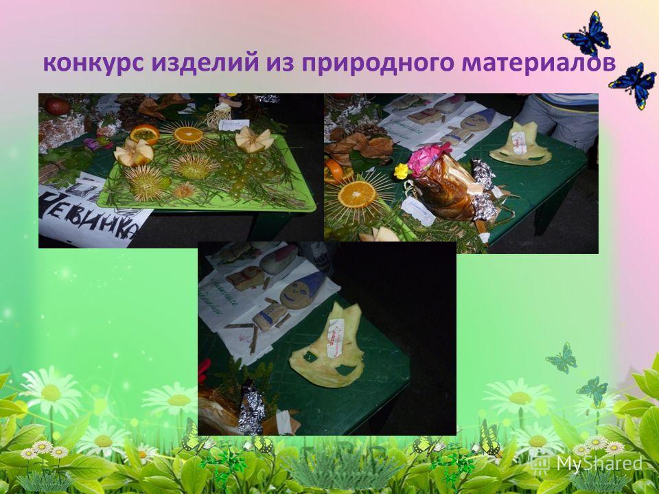 конкурс изделий из природного материалов