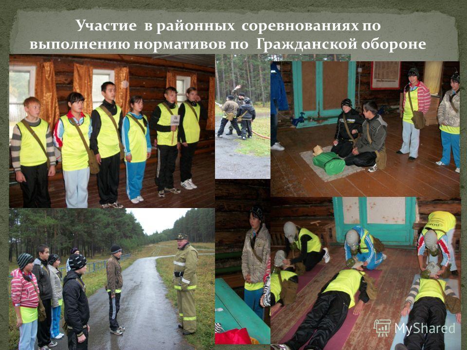 Участие в районных соревнованиях по выполнению нормативов по Гражданской обороне