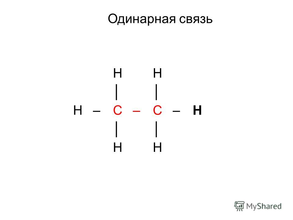 HH H–C–C–H HH Одинарная связь