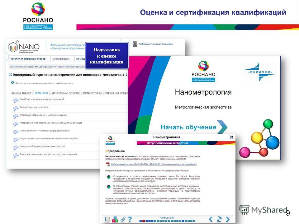 Подготовка к оценке квалификации Подготовка к оценке квалификации 9