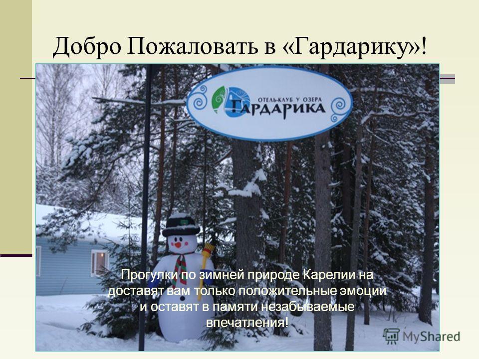Добро Пожаловать в «Гардарику»! Прогулки по зимней природе Карелии на доставят вам только положительные эмоции и оставят в памяти незабываемые впечатления!