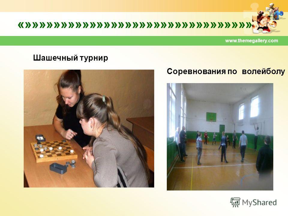 www.themegallery.com «»»»»»»»»»»»»»»»»»»»»»»»»»»»»»»»» Шашечный турнир Соревнования по волейболу