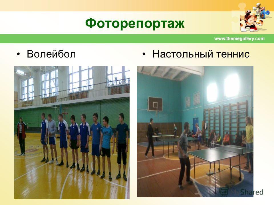 www.themegallery.com Фоторепортаж Волейбол Настольный теннис