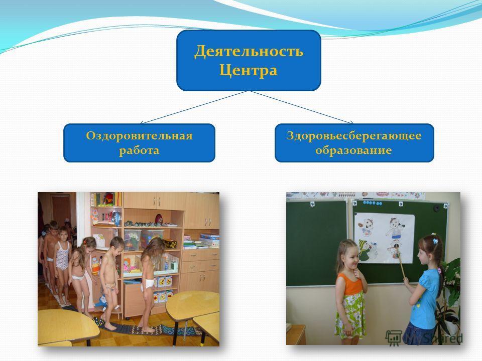 Деятельность Центра Оздоровительная работа Здоровьесберегающее образование