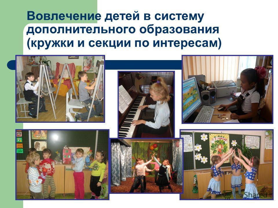 Вовлечение детей в систему дополнительного образования (кружки и секции по интересам)