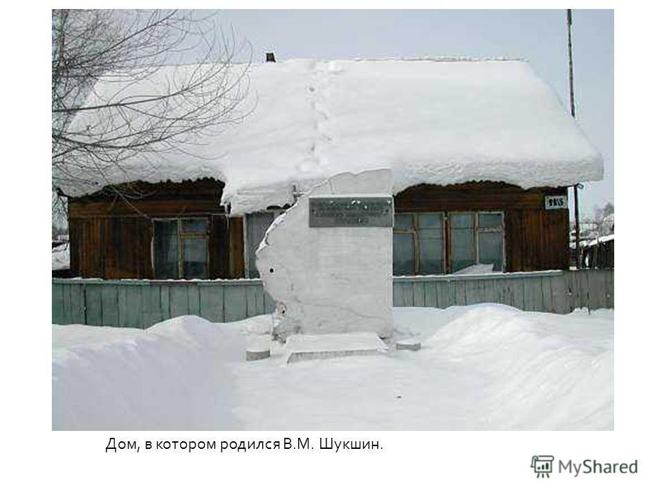 Дом, в котором родился В.М. Шукшин.