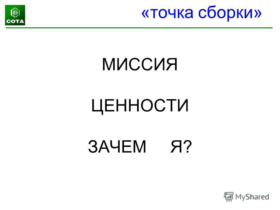 МИССИЯ ЦЕННОСТИ ЗАЧЕМ Я? «точка сборки»