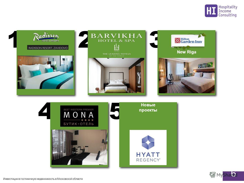Инвестиции в гостиничную недвижимость в Московской области 6 54 321 Новые проекты Новые проекты New Riga
