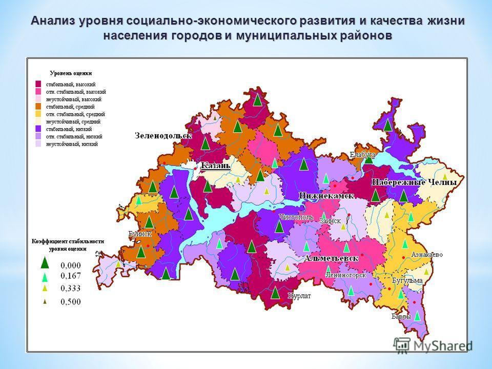 Анализ уровня социально-экономического развития и качества жизни населения городов и муниципальных районов