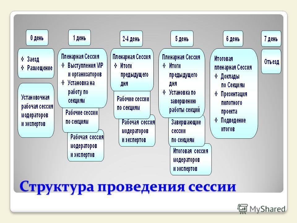 Структура проведения сессии